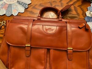 SF GIANTS LEATHER CARRIAGE HOUSE OF WESTPORT BRIEFCASE LUGGAGE NEW RETAIL $495