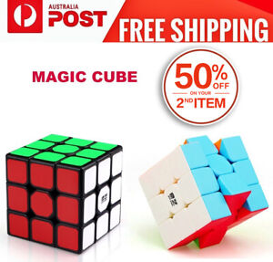 Magic Cube 3x3x3 Super Smooth Fast Speed Puzzle Rubix Rubics Rubik Toy Gift
