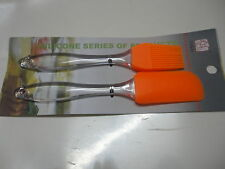 Set of Silicon brush and spatula for icing cakes/patries barbeque applying oil