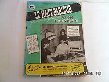 LE HAUT PARLEUR RADIO TELEVISION N°1047 15/01/1962 RECEPTEUR AM/FM BICANAL    K7
