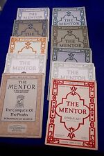 Lot of 13 THE MENTOR mail-order periodicals varied subjects w/ prints 1913-19