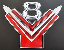 "Ford Y Block V8 Emblem Badge Large Heavy Duty Steel Metal Sign - 32"" X 25"""
