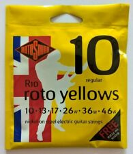 Rotosound R10 roto yellows, electric guitar strings,