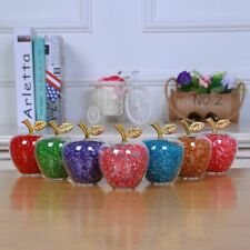 Hollow Glass Apple Figurines Color Crystal Rhinestone Home Decoration Accessory