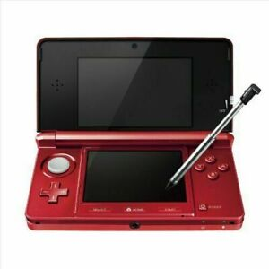 Nintendo 3DS Console Flare Red Console Only Japanese Region for Japan