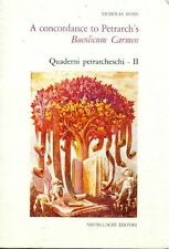 PETRARCA. Mann Nicholas. A concordance to Petrarch's Bucolicum Carmen