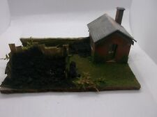 OO Gauge Coal Staithe Diorama with Lineside Hut &  stone wall New