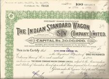 19-- India share certificate: Indian-Standard Wagon Company Limited