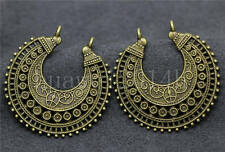3/10/50pcs Antique Silver Beautiful Crescent Jewelry Charms Connectors 38x37mm