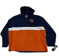 Chicago Bears Size XL 1/2 Zip Unisex Adult Hoodie Windbreaker Rain Jacket NWT