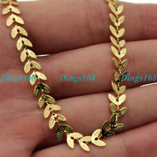 inch Fishtail Choke Chain Necklace A5F 18K Yellow Gold Filled 5.5mm wide 16~18