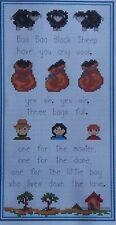 Baa Baa Black Sheep - Cross Stitch Kit - Nursery Rhyme Cross Stitch Set