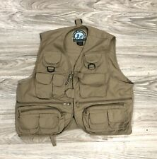 Men's Master Sportsman Rugged Outdoor Gear Fishing Vest Khaki SZ M
