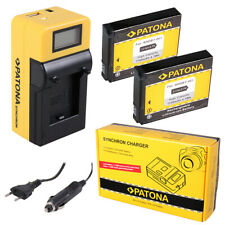 2x Batteria Patona + caricabatteria Synchron LCD USB per GoPro NAKED HERO HD