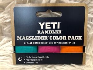YETI MAGSLIDER Magnet 3 pack:*AQUIFER BLUE/PRICKLY PEAR PINK/ORANGE* Ships FREE!