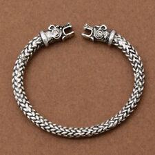 Silver Norse Viking China Tradition Dragon Bracelet Bangle Men Fashion Jewelry