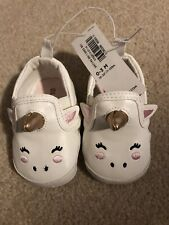 Old navy Infant Baby Unicorn Shoes 0-3 Monts NWT