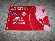 2011 Ford Escape Electrical Wiring Diagram Manual XLS XLT Limited 2.5L 4Cyl