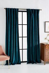 "Anthropoligie Velvet Louise Curtain 84""x50"""