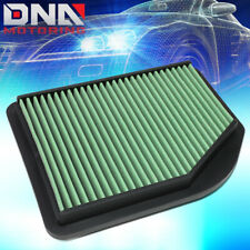 FOR 2012-2014 HONDA CR-V 2.4L GREEN WASHABLE HIGH FLOW DROP IN AIR FILTER PANEL