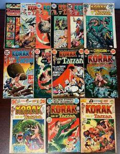 KORAK, SON OF TARZAN (DC,1972) 46-52,54-58 & TARZAN FAMILY 60  FINE TO VF