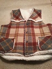 H BAR C  Men's Medium (M) Plaid Vest VERY THICK SHERPA STYLE
