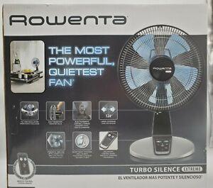 "Rowenta Turbo Silence 12"" Oscillating Table Fan w/Remote"
