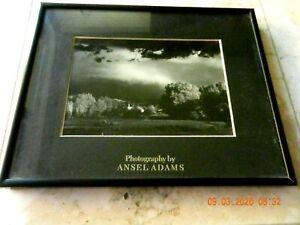 "Ansel Adams Black & White Black Framed Photo With Matting, 8"" x 10"""