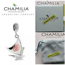 Geniune Chamilia 925 Silver & Enamel DISNEY MOANA Set Sail Boat Bead Charm