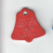 1984 Montgomery County Maryland Rabies Vaccine Cat Tag #1645