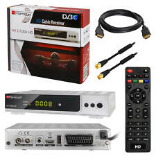 Digital Kabelreceiver Kabel TV DVB-C HDTV C100 USB SCART + Antennenkabel 2m HDMI