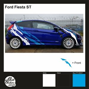 Ford Fiesta Stickers Custom Design Car Sport Graphic Garages Cool Decal