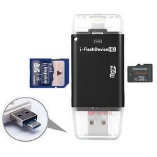USB Flash Drive TF SD Memory Card Reader for iPhone 7 6 5 s Plus iPad 4 Air Mini