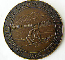 1965 FAIRBANKS ALASKA GOLD PANNER BRONZE MEDAL 1ST FARTHEST NORTH COIN CLUB