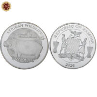 WR 2016 Zambia 5000 kwacha African Wildlife Series Hippo Silver Round Coin