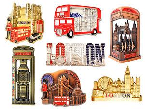 Great London Icons Design Set of 7 Metal Fridge Magnets - 7 Metal Pieces