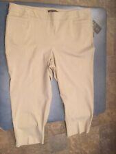Zac & Rachel Women's Plus Size 24W Tan Ultimate Fit Dress Pants NWT