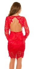Sexy Koucla long sleeved party dress with all in crochet. UK 8.10.12. S.M.L