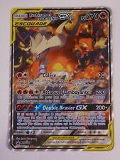 Cartes Pokémon - Reshiram et Dracaufeu GX PV 270 SM201 JUMBO Grande carte - FR