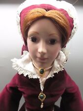 "Vintage Franklin Heirloom Porcelain Doll Vhtf Queen Mary I 20"" Coa Beautiful!"