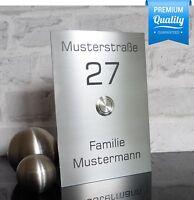 V2A Edelstahl Klingelplatte Haustürklingel Türklingel Klingel Klingelknopf (JL)