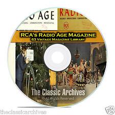 RCA Radio Age, 63 Vintage Old Time Radio Magazine Collection on PDF CD B78