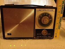 Vintage Midland Solid State Ten Radio built into leather case - Restore/Repair