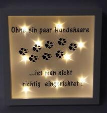 Bilderrahmen beleuchtet Hund Katze Tiere Spruch Geschenk 535/52
