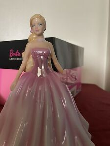 Royal Doulton Birthday Wishes Barbie Figurine HN5532 Limited Edition, RARE! 2011
