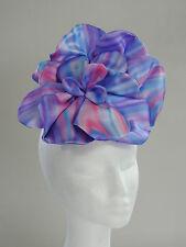 Stunning Hand Made Rainbow Flower Fascinator - Pink, Blue, Purple