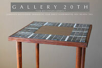 MINIMALIST MID CENTURY MODERN TILE CLUB TABLE! ATOMIC RAYMOR WOOD 50'S VTG RETRO