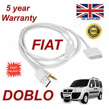 FIAT DOBLO ultimo Blue & Me 3GS 4 4S IPHONE IPOD USB AUX Adattatore Audio Cavo Bianco