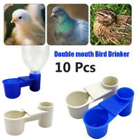 Bird Drinker Equipment Double Mouth Drinker Bird Cage Feeding Trough Water Bowls