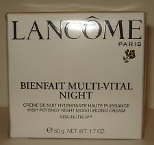 Lancome Bienfait Multi-Vital Night - Vita Nutri 8  1.7oz/50 G  NIB Sealed